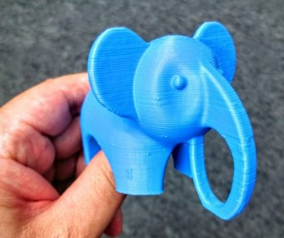 printing the elephant 3d model