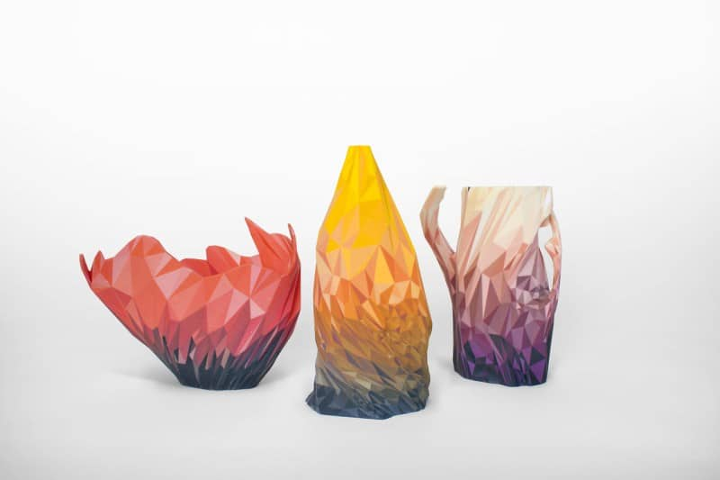 3d printed vessels created from distorting aligorithms