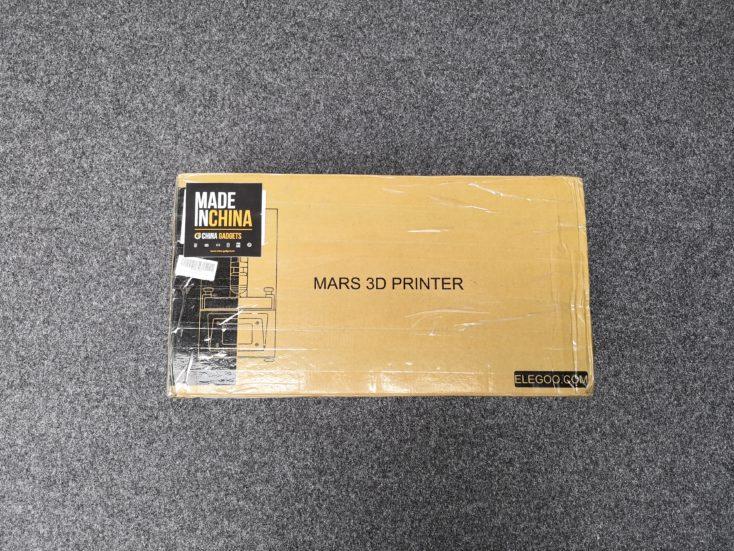 elegoo mars 3d printer packaging