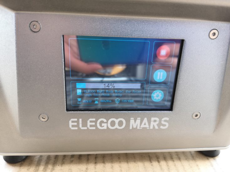 elegoo mars 3d printer print time