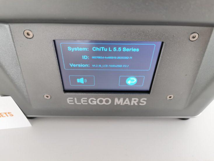 elegoo mars 3d printer system information
