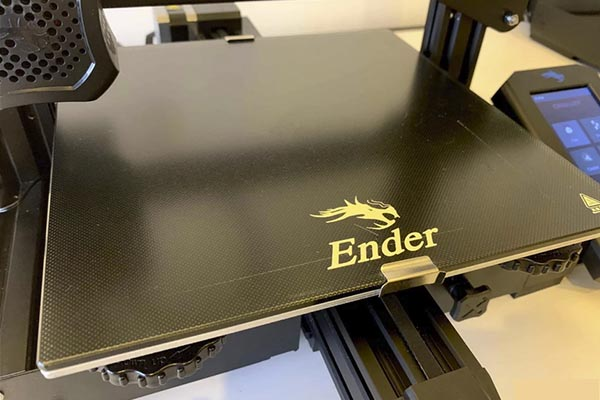 Tempered glass print bed