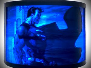 blue lithophane