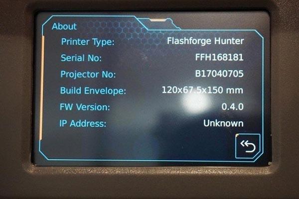 FlashForge Hunter Resin 3D Printer Review 15