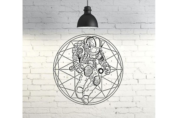 2D Astronaut Wall Sculpture