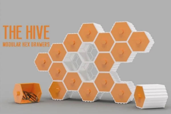 Stackable Hex Drawers