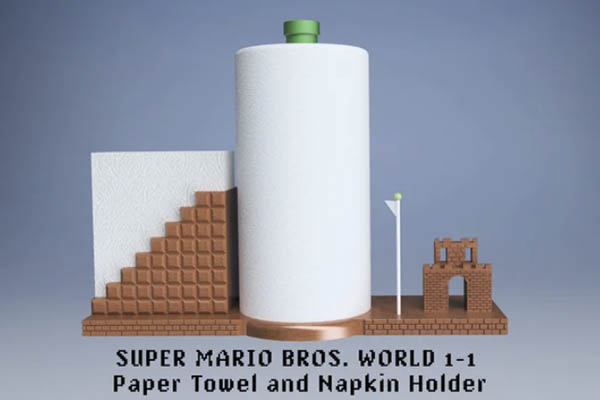 Super Mario Paper Towel Holder