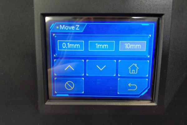 anycubic photon s move z menu