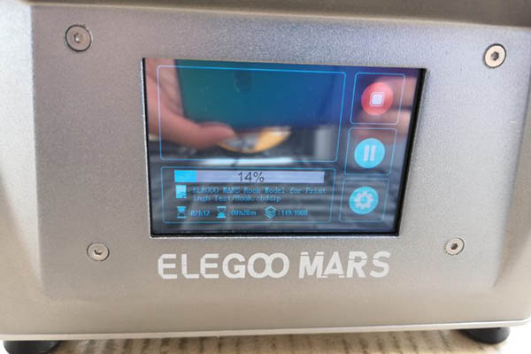 elegoo mars 3d printer print time