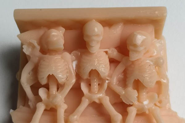 elegoo mars 3d printer test print skeletons