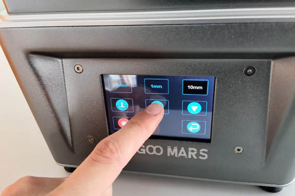 elegoo mars 3d printer touchscreen operation