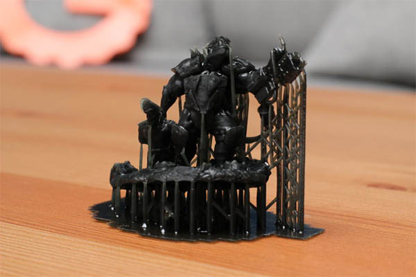 elegoo mars ork print with support structures