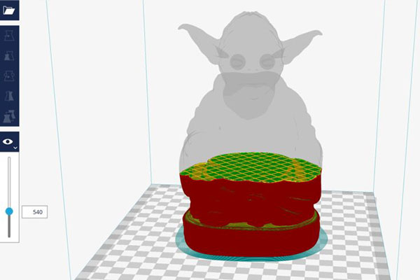 layer view cura