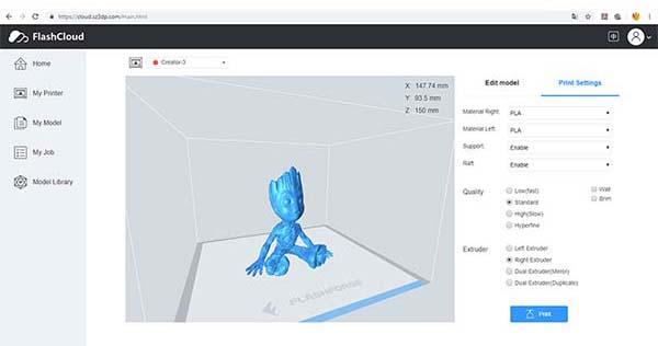 Flashforge Creator 3 3D Printer Review 19
